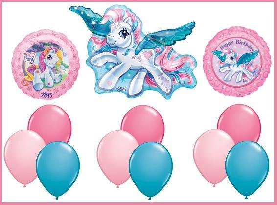 My Little Pony party balloon set - supplies decorations