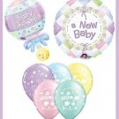 New Baby baby shower balloon kit boy/girl supplies