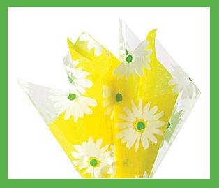 Daisy cello sheet yellow tissue paper gift wrap supplie