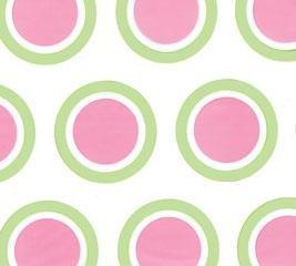 Pink polka dot & green circle cello sheets wrap supplie