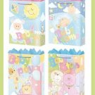 Baby Shower gift bags - 4 styles - wrap - supplies