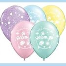 Noahs Ark baby shower latex balloons - 5 ct - supplies