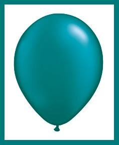 Teal latex balloons party supplies decorations