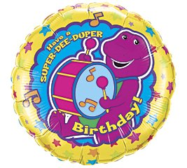 Barney birthday party balloon supplies decorations