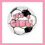 It's a Girl soccer ball baby shower balloon supplies