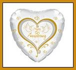 Anniversary Doves party balloon supplies decorations