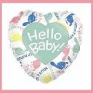 Hello Baby shower balloon boy/girl supplies/decorations