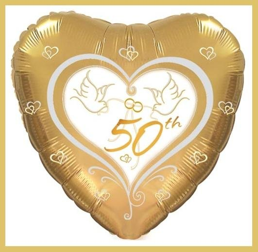 50th Anniversary Party Balloon - supplies decorations