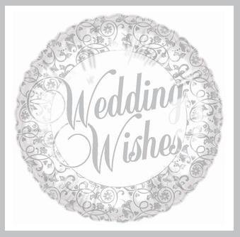 Wedding Wishes Wedding/Bridal Shower Party Balloon