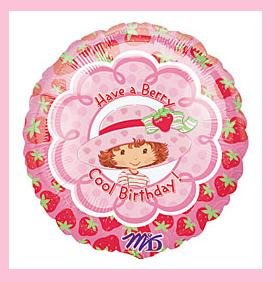Strawberry Shortcake Birthday balloon - party supplies