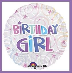 Birthday Girl Party Balloon-Party supplies decorations