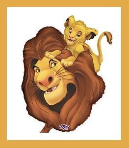 Lion King Balloon - Simba & Mufasa - party supplies