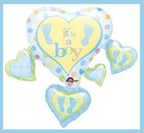 It's a Boy baby shower party balloon supplies decoratio