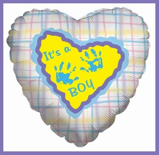 It's a Boy handprint baby shower balloons supplies