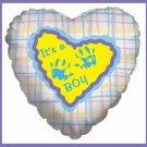 It's a Boy handprint baby shower balloons supplies