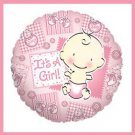 It's a Girl baby shower balloons supplies decorations