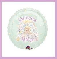 Precious Moments baby shower balloons Welcome Baby