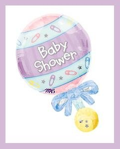 New Baby Rattle balloons - Baby shower supplies boy/girl