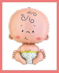 Welcome Baby mylar balloons - Baby Shower supplies