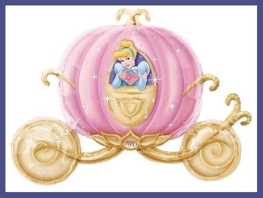 Cinderella's Carriage party balloons - Disney Princess