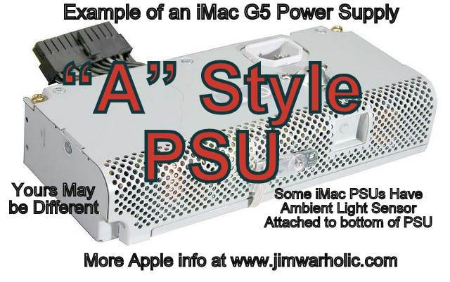 A Style Apple iMac G5 Power Supply Capacitors Kit
