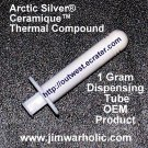 OEM Arctic Silver® Ceramique™ Thermal Heatsink Compound 1 Gram