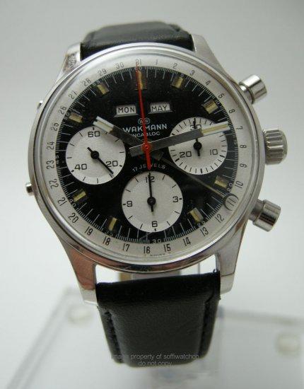 Vintage Men's Breitling Wakmann Triple Date Chronograph Watch