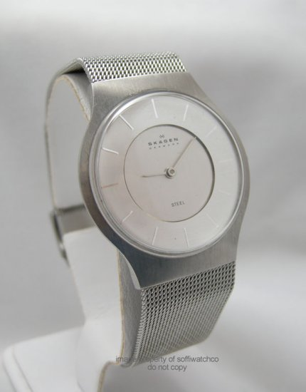 Skagen Denmark Stainless Steel Men's Watch 233LSS Ultra Thin