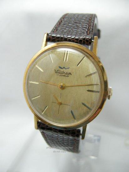 Vintage Waltham Manual Wind Men's Watch Textured Dial 17J