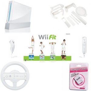 "Nintendo Wii ""Get Fit"" Bundle - Wii Fit with Wii Balance Board, Sports Games and More"