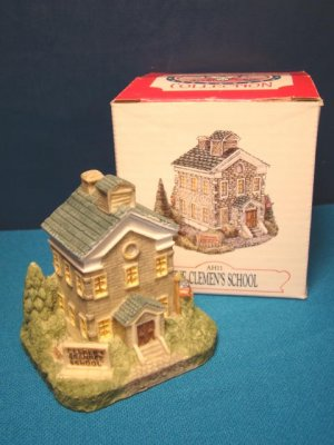 Liberty Falls Clemens School resin miniature house AH11 Americana Collection 1992 Colorado building