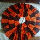 Custom Halloween Colors Twirl Skirt  Orange and Black Print