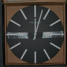 Carl Jorgen-Denmark Black Silver Contemporary Wall Clock