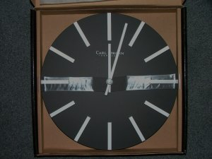 Carl Jorgen-Denmark Black Silver Contemporary Wall Clock