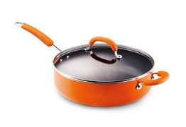 "Rachael Ray 12"" Inch Covered Deep Saute - Orange"