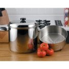 Precise Heat 24 Quart Stockpot with Deep Steamer Basket