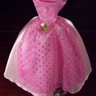Original BARBIE FASHION Fuschia Pink Sparkle Formal Ball Gown Dress Near Mint Condition!!