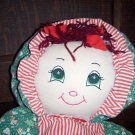 "19 1/2"" SOFT CUDDLY & HUGGABLE PLUSH CHRISTMAS DOLL VGC!!"