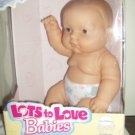 1998 JC Toys Group Lots to Love Babies Dolls 14 inch Soft Vinyl Doll By Berenguer