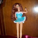 Barbie Blue and White Iridescent Mini Dress Fashion with Pink Genuine Barbie Tag