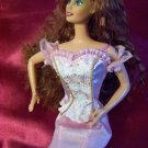 Barbie Francie Stacie Sparkly Pink Princess Fashion Top with Pink Genuine Barbie Tag