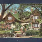 Vintage HOME BANKED with FLOWERS CA California Unstamped Used Postcard