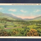 Vintage Green Mountain Valley Near Manchester 19GM Linen Postcard
