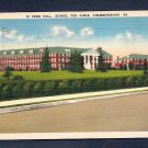 Vintage Postcard Penn Hall School For Girls Chambersburg Pa Pennsylvania Linen Postcard