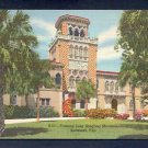 Vintage Postcard S51 Famous John Ringling Mansion Genuine Curteich Florida Linen Postcards