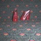 Barbie Size Hot Pink Clear Open Toe Chunky High Heel Platform Sling Back Sandal Shoes