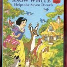 Snow White Helps The Seven Dwarfs Walt Disney Productions 1st Edition Children's Collectable Book