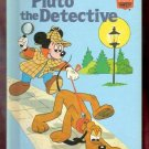 Pluto the Detective Walt Disney Productions Presents 1st Edition Children's Collectable Book