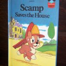 Walt Disney Productions Presents Scamp Saves The House Children's Collectable Book 1981 ISBN 0-394-8