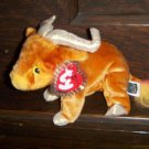 2000 Zodiac Musk Ox Mint Ty Beanie Baby with Tag Protector MWMT 8-19-00 Retired 05-17-01 New